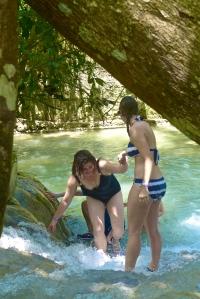 Lending a hand at Dunn's River Falls